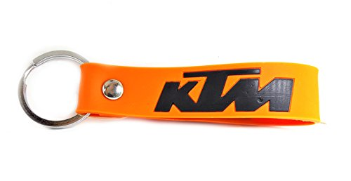Blue Aura Ktm Inspired Double Sided Silicon Rubber Keychain Bike Keychain Collectible Gifting Orange