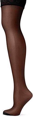 Pretty Polly Damen Nylons 10d Gloss Lace Hold Up Strumpfhose, 10 DEN, Schwarz Black, Medium (Herstellergröße: SM)