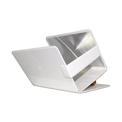 Mobilegear Mobile Phone Screen Magnifier & Enlarge Stand to Increase Screen Size upto 3X - White