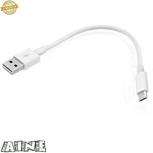 Aine ® Type C Mini Charging Cable for One Plus 7Pro/7/6t/6/5t/5/3t (Pack of 1, White)