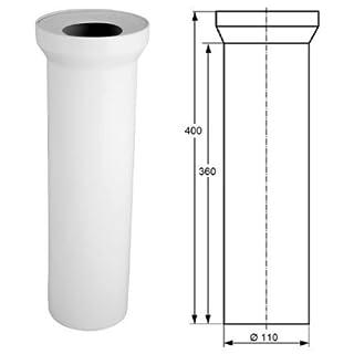 WC-Anschlussrohr 400 mm DN 100 weiß