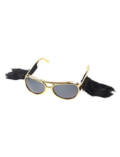 Brille Elvis mit Koteletten gold keine Größe (Elvis Brille Mit Koteletten)