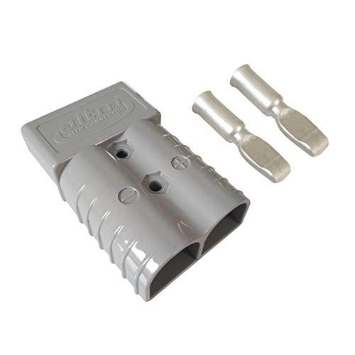 350A Connecteur de batterie AWG 2/0 Batterie à Connexion Rapide Connecteurs d'Alimentation Modulaires Déconnexion Rapide (Gris)