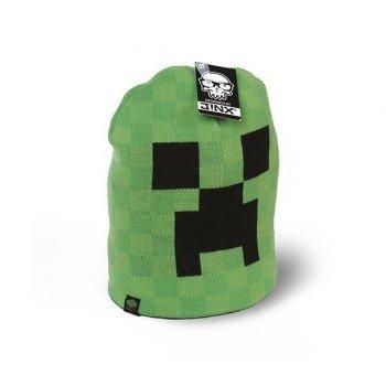 Preisvergleich Produktbild Knallgrün Minecraft Creeper Beanie Mütze hochwertig Farbklecks für jede Jahreszeit doppellagig warm - L / XL