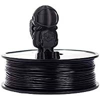 SunPro 3D Printer Filament 1.75 mm PLA/PLA+ / PLA + Pros Net Weight 1 Kg (BLACK, PLA)