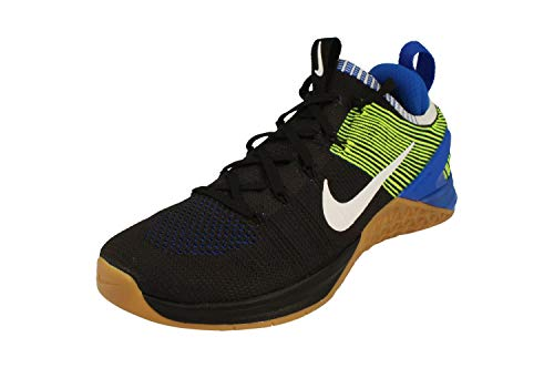Nike Metcon DSX Flyknit 2 Lauf Trainer 924.423 Turnschuhe (UK 10 US 11 EU-45, Black White Racer Blau 006) 10 UK Schwarz Weiß Blau Racer 006
