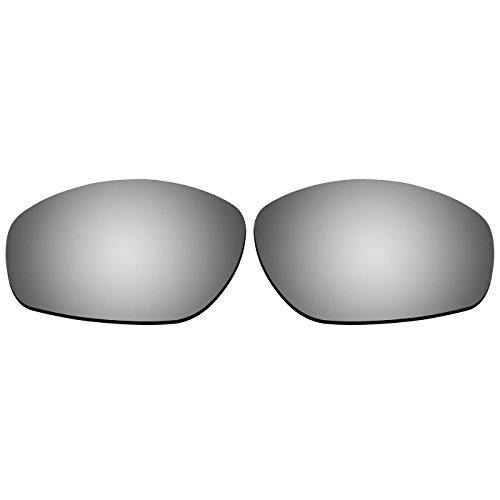 Acompatible OO9091 Ersatzgläser für Oakley Encounter-Sonnenbrille, Titanium Mirror - Polarized
