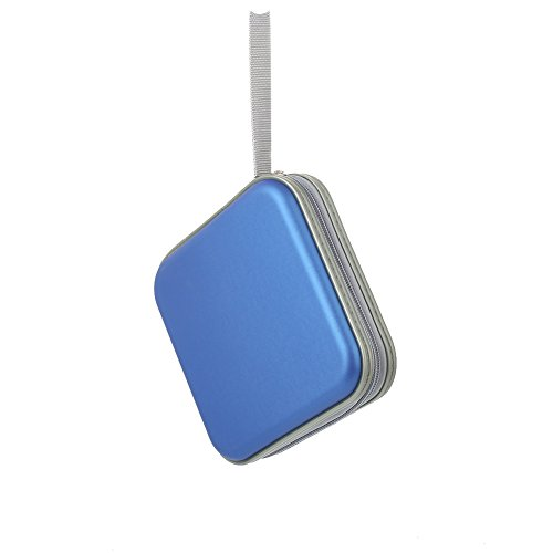 Hanbaili Tragbare CD DVD Aufbewahrungskoffer Tragetasche Cover Disc-Halter-Beutel-Handtaschen-Organisator (Tool Duty Heavy Blue Box)