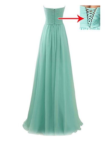 Erosebridal Lange Brautjungfer Kleid Off-schulter Brautjungfernkleider Grün