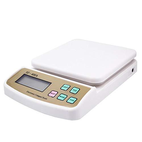 Yaoaomitn Bilance da Cucina digitali da 10 kg 0,1 g Che contano Bilancia Elettronica Bianca
