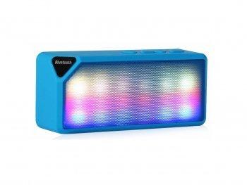 Image of DESIGN FREUNDE Bluetooth Lautsprecher Black Perl Kopfhörer Speaker Handylautsprecher Box Disco Lautsprecher Bluetooth Lautsprecher Bluetooth Lautsprecher Twister Blue