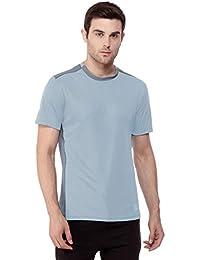 dc63a64c7 CHKOKKO Round Neck Regular Fit Dry Fit Stretchable Yoga Gym Sports Tshirts  for Men (Medium