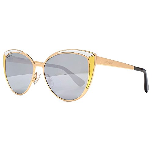d07dbfb88d81 Jimmy Choo Domi Sunglasses in Gold & Silver DOMI/S VNG 56 -