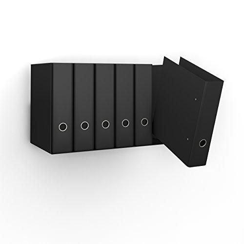 Ordnerregal Bürorregal aus Metall in schwarz für bis zu 14 Ordner