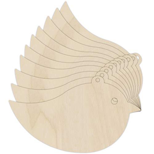 ogel Spatz Basteln Formen Kinder-Geburtstag Holz   Sperrholz Ausschnitte   8 x 4,5 cm   Unlackiert Leer, Tier Formen   Ideal für Farbe, Dekorieren, Geschenk & Decoupage ()