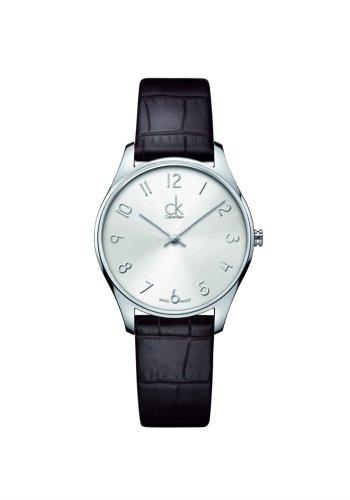 Calvin Klein  K4D221G6, Reloj Quarz para Mujer, con Correa de Cuero, Negro