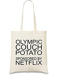 fb70df9e22450 Olympische Stubenhocker gesponsert von Netflix Funny Slogan - Olympic Couch  Potato Sponsored By Netflix Funny…