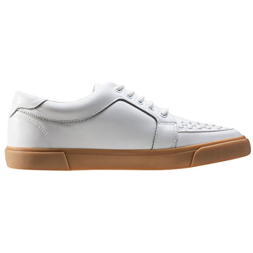 T.U.K. Vlk Creeper Sneaker Wht Leath Gum Sole, Baskets Basses Mixte Adulte White Gum