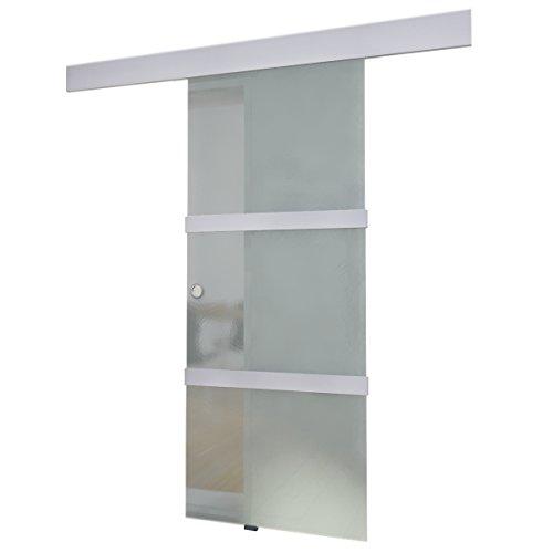 vidaXL Glasschiebetür 205x75 cm Glas Schiebe Tür Glastür Schiebetür Zimmertür