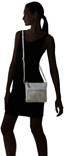 Gerry Weber Damen Voice Shoulder Bag V, S Schultertaschen, 24x22x1 Cm Grau (grigio Chiaro 801)