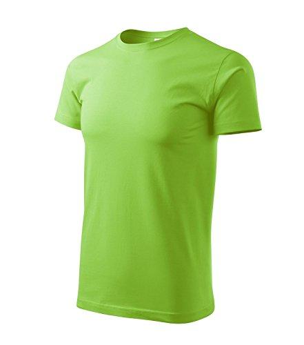 T-Shirt für Herren Shirt Basic (M, apfelgrün) (T-shirt Adler)