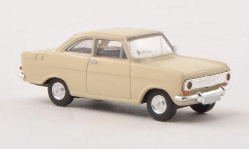 Opel Kadett A, hellbeige, Modellauto, Fertigmodell, Brekina Drummer 1:87