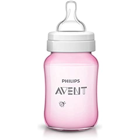 Philips AVENT - Biberón (Rosa, Color blanco)