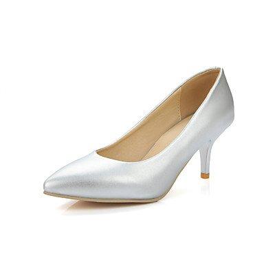 LYNXL Talloni delle donne Primavera Estate Autunno abito da sposa Altro similpelle Outdoor ufficio & carriera Party & Sera casuale argento Stiletto HeelPink Gray