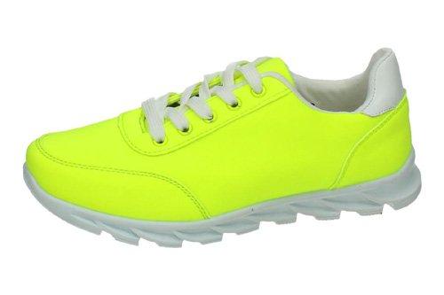 zapatillas-baratas-hf-shoes-deportivos-talla-40-amarillo-fluor-polipiel
