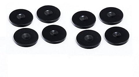 Custom Design Floor Protectors - Black (Set of 8)