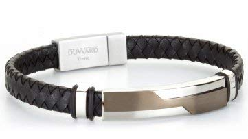 27407725bf98 Duward Black Leather Bracelet with Steel Pin dt3017.52