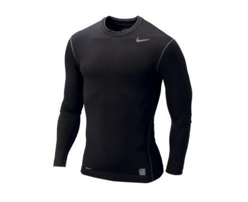 NIKE Herren Langärmliges Shirt Core Compression Top Schwarz