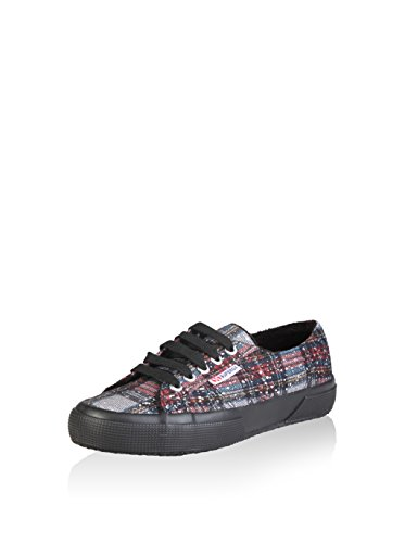 Superga - 2750 Metallicmeshcheckw, Sneaker Donna NAVY-RED-SILVER