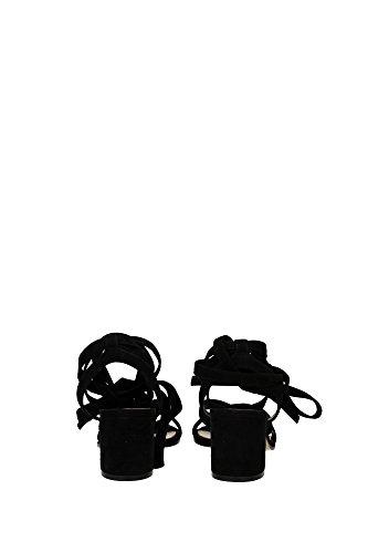G3065360RICCAMNERO Gianvito Rossi Sandale Femme Chamois Noir Noir