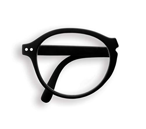 IZIPIZI PARIS | READING Lesebrille LetmeSee #F Black | Faltbrille für unterwegs| Sehhilfe 15x4,5x2 cm | See Concept (+1,0)