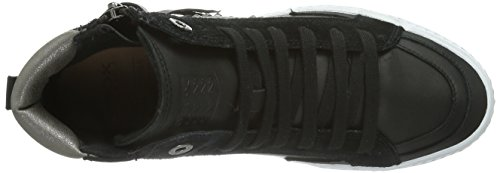 Geox Jr Witty, Baskets mode fille Noir - Schwarz (BLACKC9999)