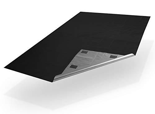 Xcelenze - Tragbare Fenster Verdunkelung in einer Minute angebracht | Reise Verdunklungsrollo mit Mikro Saugnapf und 3x stärkerem Halt | 2m x 1,45m Schwarz