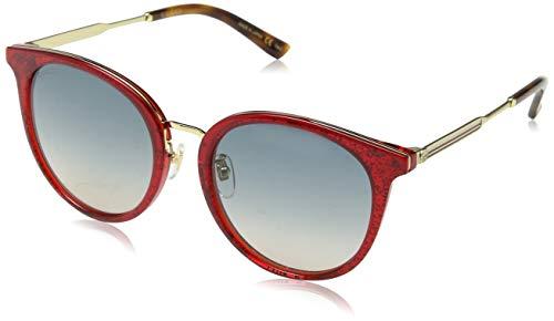 Gucci Damen GG0204SK 005 Sonnenbrille, Rot (5/Bluee), 56