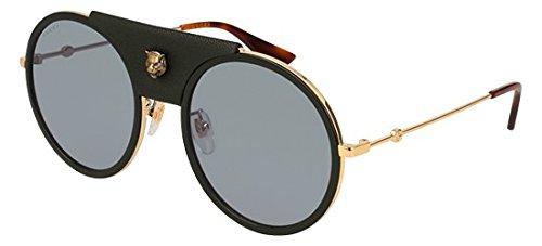 Gucci Sonnenbrillen GG0061S GOLD BLACK/GREY Damenbrillen