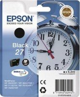 1x Cartouche d'encre d'origine pour EPSON WorkForce 7620DTWF t2701, T 2701–Black –-Contenu: 6,2ml