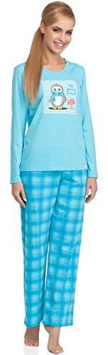 Cornette Ensemble Pyjama Femme CR-655-Arctic Friend Turquoise