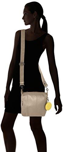 Mandarina Duck - Mellow Leather Tracolla, Borsa a tracolla Donna Grigio (Simply Taupe)