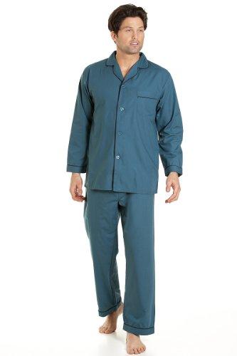Haigman Herren Nachtwäsche, Langarm-Schlafanzug mit Hosen, grün, Größe XL (Grüne Herren Schlaf-hose)