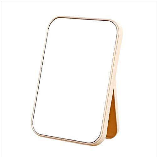 Faltender Einfacher Quadratischer Schminkspiegel Hohe Liste Gesicht Schminkspiegel Desktop Dressing Spiegel Kosmetikspiegel (Farbe : Beige)