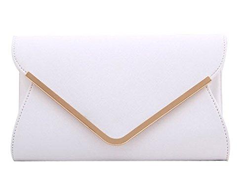 Keluosi moda borsa donna tracolla eleganti piccole borsetta a mano ragazza mini borse a spalla sacchetta (bianco)