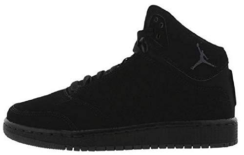 newest dd4d4 31080 Nike Júnior Jordan 1 Vuelo 5 Prem BG Cuero Negro Zapatillas Baloncesto  881440 010