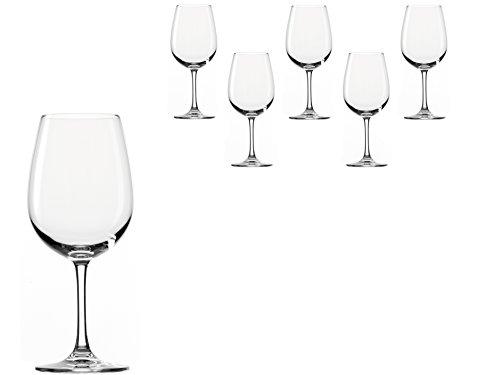 Stölzle Lausitz Bordeaux Rotweingläser Weinland 540ml, 6er Set Weinglas, hochwertige Qualität, spülmaschinenfestes Bordeauxgläser, große Rotweinkelche - 2
