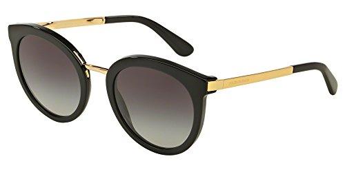 Dolce & Gabbana Damen Sonnenbrille DG4268, Gr. Small (Herstellergröße: 52), Mehrfarbig (Gold, Schwarz/Grau verlaufend 501/8G)