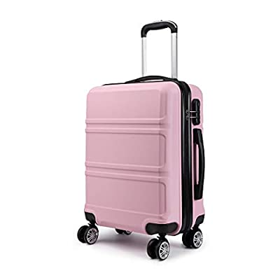 Kono 20 inch Cabin Suitcase Lightweight ABS Carry-on Hand Luggage 4 Spinner Wheels Trolley Case