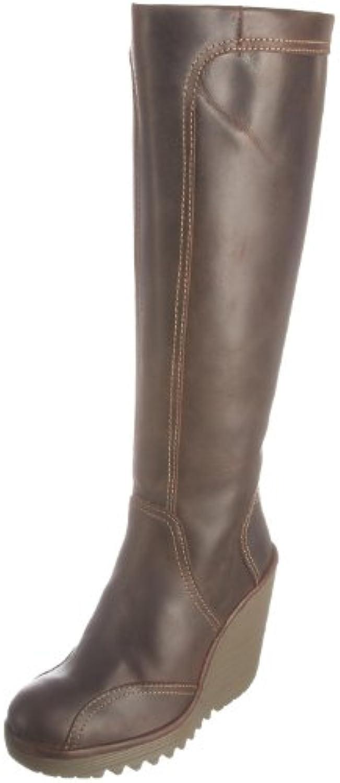 FLY London Cher Leather - Botas de cuero para mujer